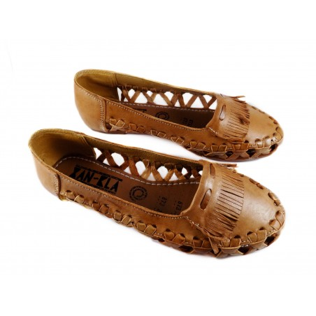 Mexican Huaraches Flats Tan