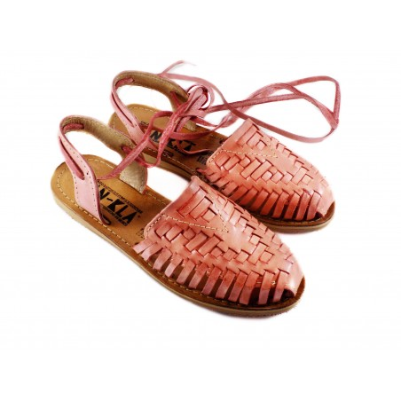 Mexican Huaraches Sandals Isabela Salmon