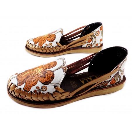 Mexican Huaraches Sandals Autumn Copper