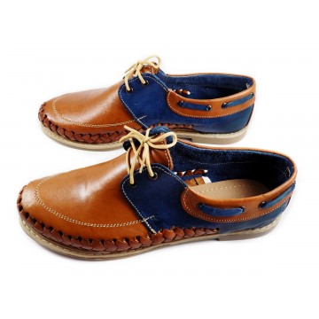 Top siders women tan and blue