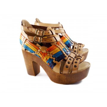 Platform Heels Leather...