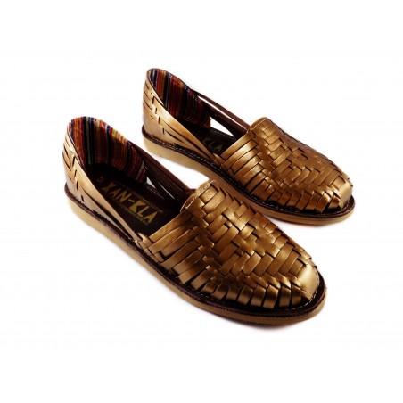 Huarache sandals copper