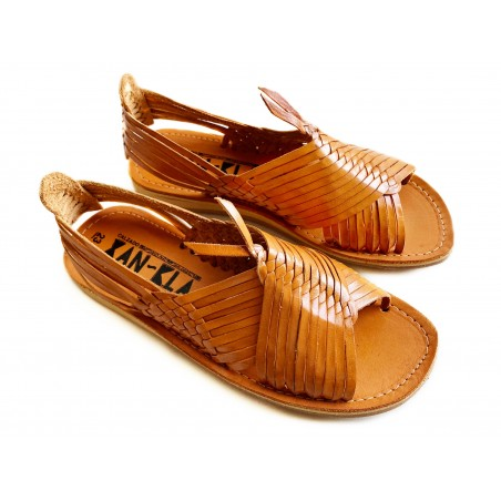 Mexican Huaraches Sandals, Wheat Spike Deluxe