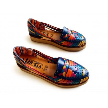 Huaraches Sandals Rainbow Blue
