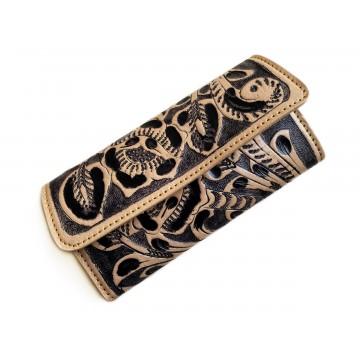 Tooled leather wallet Kutz