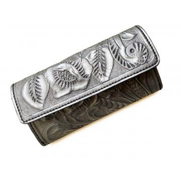 Tooled leather wallet Kutz...